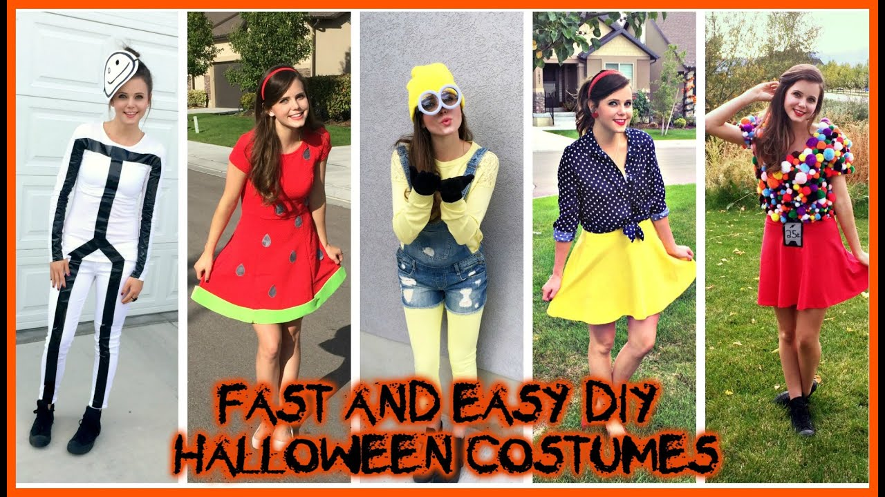 diy halloween costumes super easy cheap last minute ideas tiffany vlog youtube