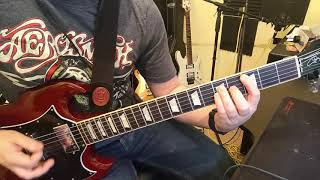 Kick You When You're Down ACDC Guitar Cover #PWRUP