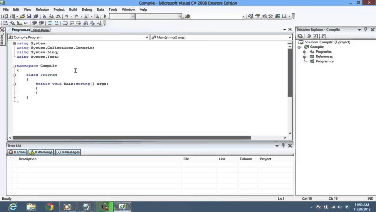 How to Compile and Run your code in C#