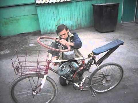 Сделать мопед из велосипеда в домашних условиях 739