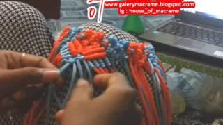 tutorial tas tali kur bagaimana membuat motif wings atau sayap