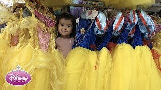 shopping for disney princess dresses baby playful