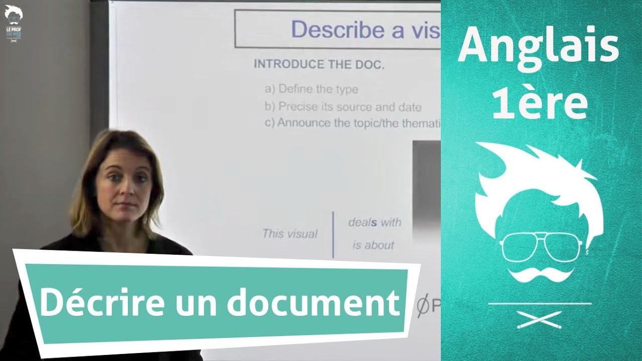 Oral d'anglais : décrire un document efficacement - YouTube