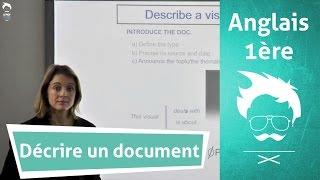 Oral d'anglais : décrire un document efficacement