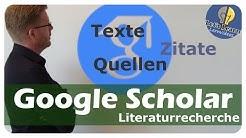 Literatursuche - Facharbeit, Hausarbeit - Google Scholar - einfach und anschaulich erklärt