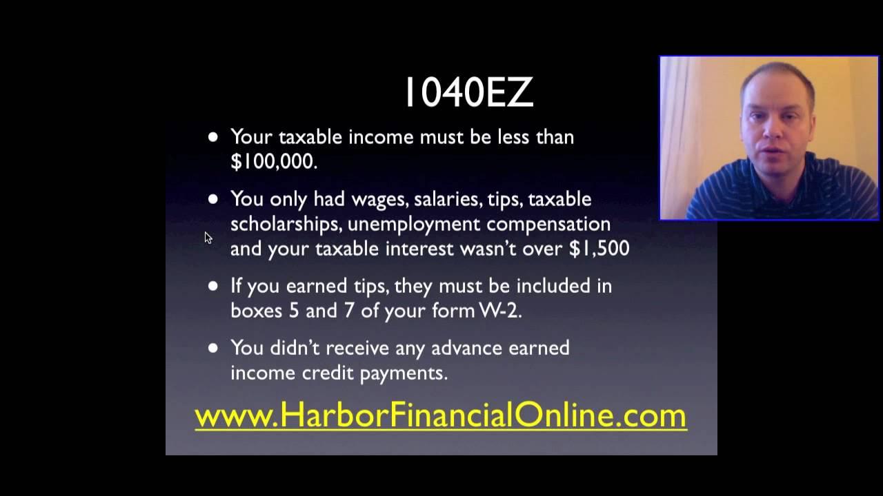 1040 Ez Tax Form Instructions 2012 2013 Youtube
