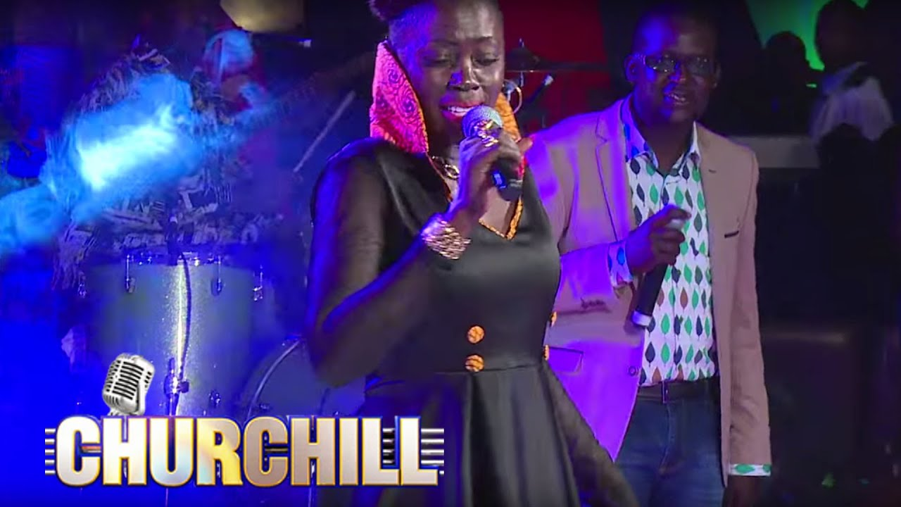 Akothe performs mama on Churchill Show