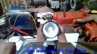 Mengubah Pompa Air menjadi Pembangkit Listrik  5 volt.