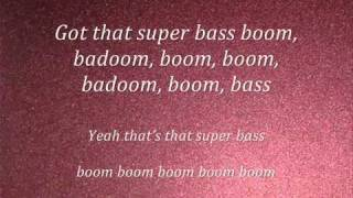 Repeat youtube video Nicki Minaj-Super Bass(lyrics) 2011(NEW)