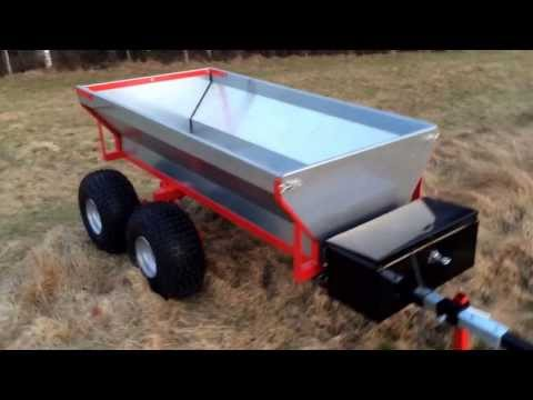 Hydraulic atv dump trailer