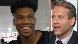 Giannis could replace Michael Jordan as the GOAT if he starts to hit 3s - Max Kellerman | First Take