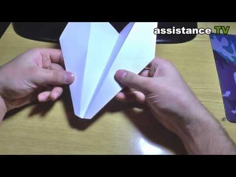 Сделать самолет из бумаги своими руками видео