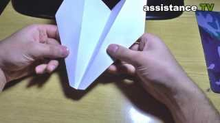 как сделать БУМАЖНЫЙ САМОЛЕТ ПОЭТАПНО/How to make a paper airplane in STAGES
