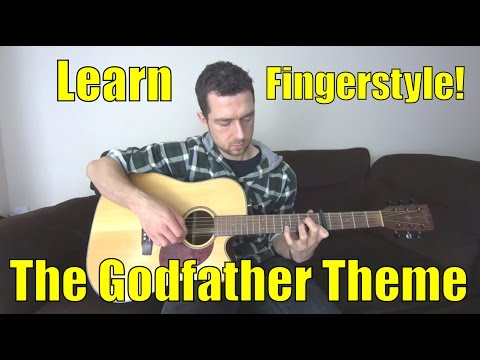 Fingerstyle guitar - How to play The Godfather theme on fingerpicking guitar