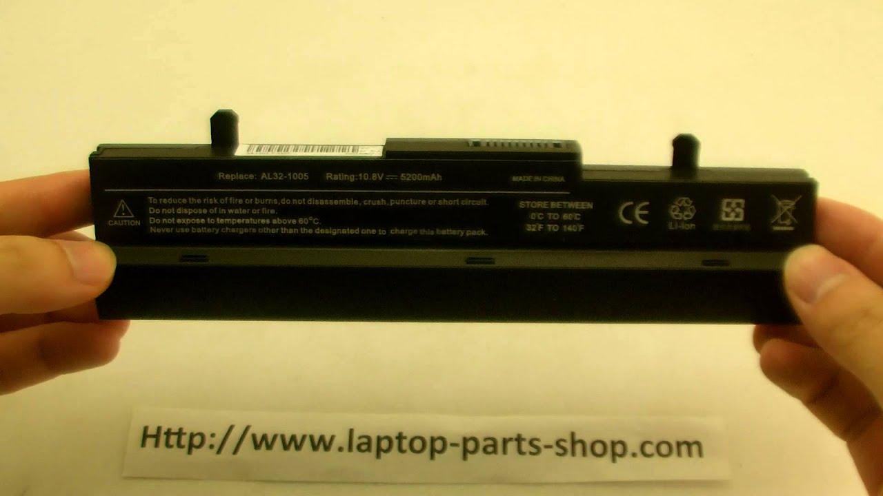 Батарея на ASUS Eee PC 1001P с Aliexpress - YouTube