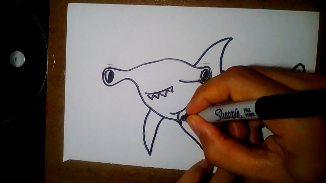 Como Dibujar Un Tiburon Martillo How To Draw A Hammer Head Shark