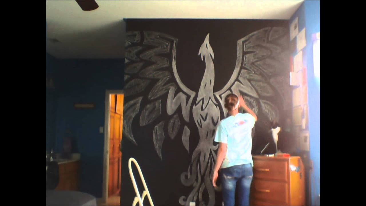 9 drawing on my chalk board wall - youtube