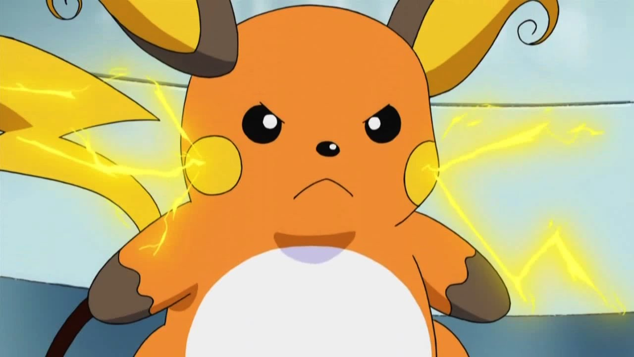 Ash's Pikachu Evolves Into Raichu - YouTube