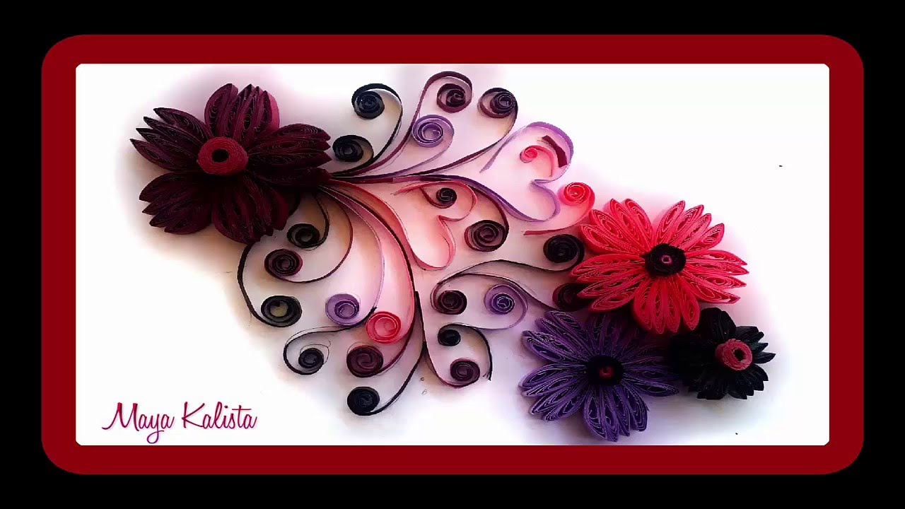 How To Make Diy Paper Quilling Designs Art Flower Design Ideas