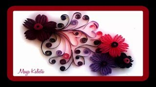 How to make DIY paper Quilling Designs - Art / Flower Design / Ideas /  Quilling  Paper Tutorial!