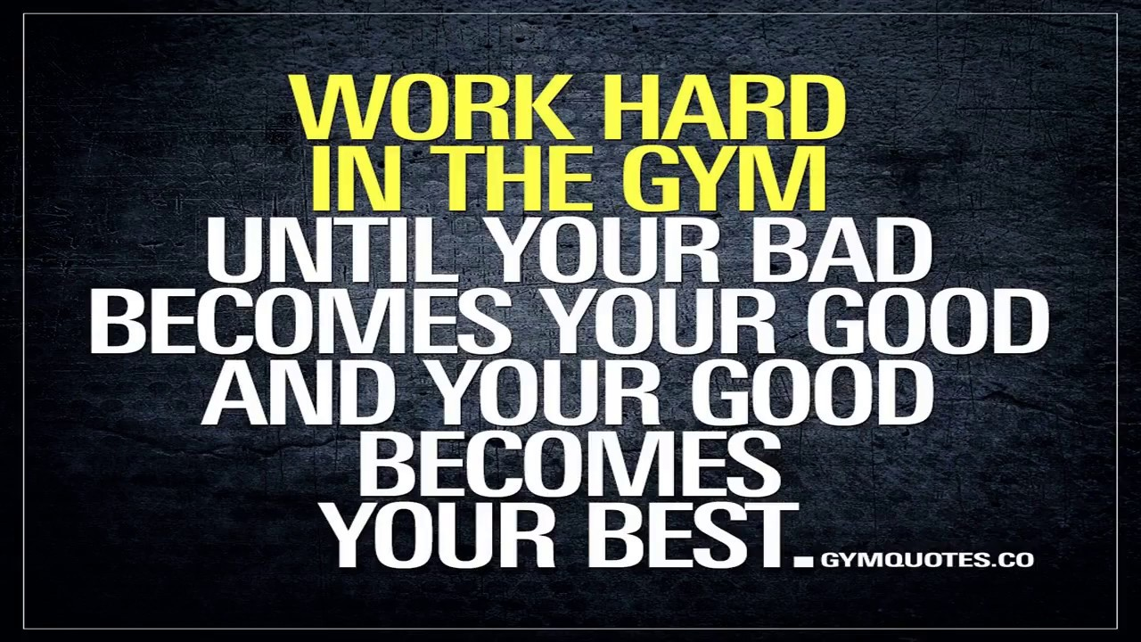 Gym Hard Work Quotes Youtube