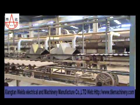 Dust Press Process Clay Roof Tile Making Machine Youtube