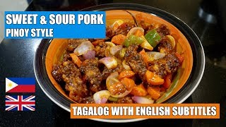 How to make Sweet & Sour Pork - Pinoy Style Sweet n Sour Pork - Sweet & Sour Sauce - Filipino pork