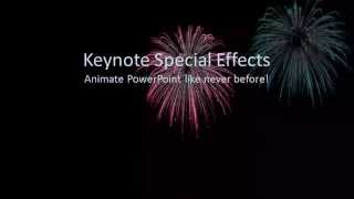 Cool new Animation effects for Microsoft PowerPoint