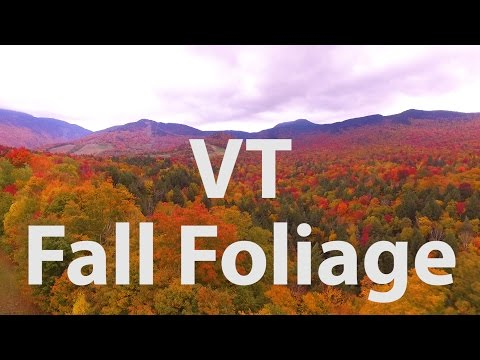 Breathtaking Vermont Fall Foliage and Covered Bridge! - HD - 2016 - Drone Footage