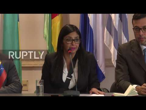 Uruguay: Venezuelan FM in Montevideo to discuss Mercosur suspension