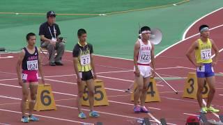 20170730 山形インターハイ 男子100m 予選1組