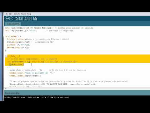 how to send udb from arduino