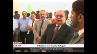 Minister visits migrants on World Refugee Day - Ahmadiyya presents fruit hampers