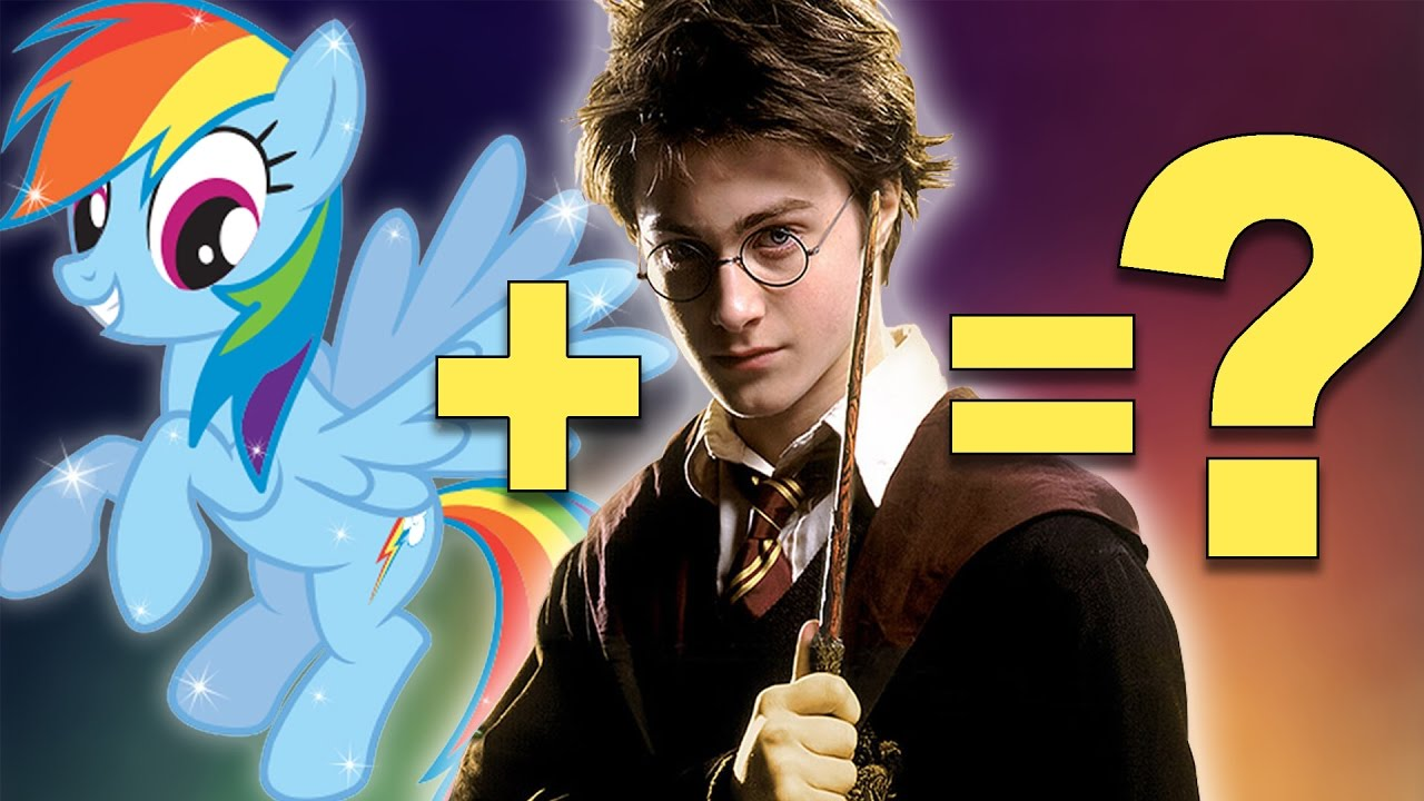 Mashup Harry Potter My Little Pony Rainbow Dash Hermione
