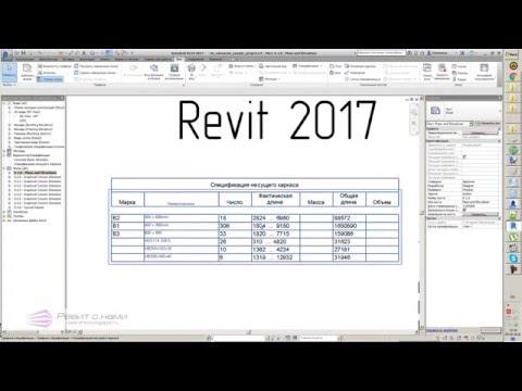 Revit 2017   05 Спецификации
