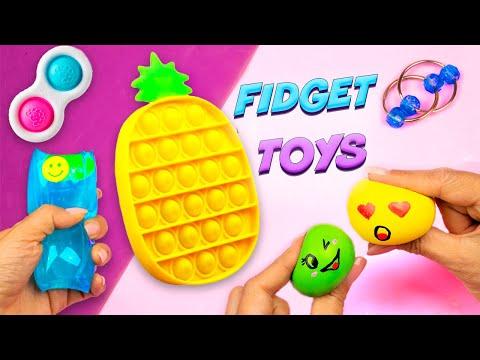 5 Способов как сделать Антистресс своими руками Поп ит Ананас Симпл Димпл Скользун и … fidget toys