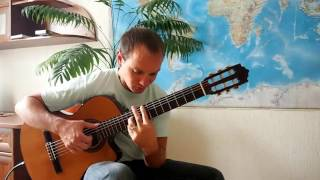 Московские окна на гитаре. (Вариант 2)