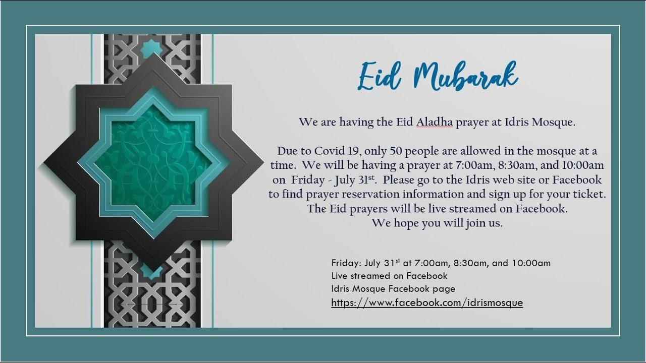 Eid Aladha Prayer and Kutba By Sheikh Kyle Smith
