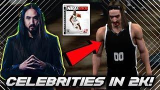 USING CELEBRITIES IN NBA 2K!! *STEVE AOKI IS THE GOAT* | NBA 2K8 THROWBACK GAMEPLAY