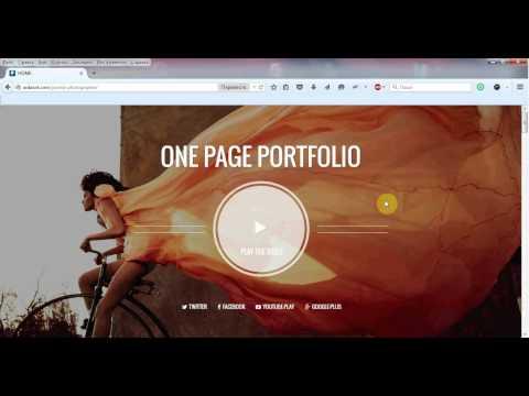 Photographer   One page Joomla template