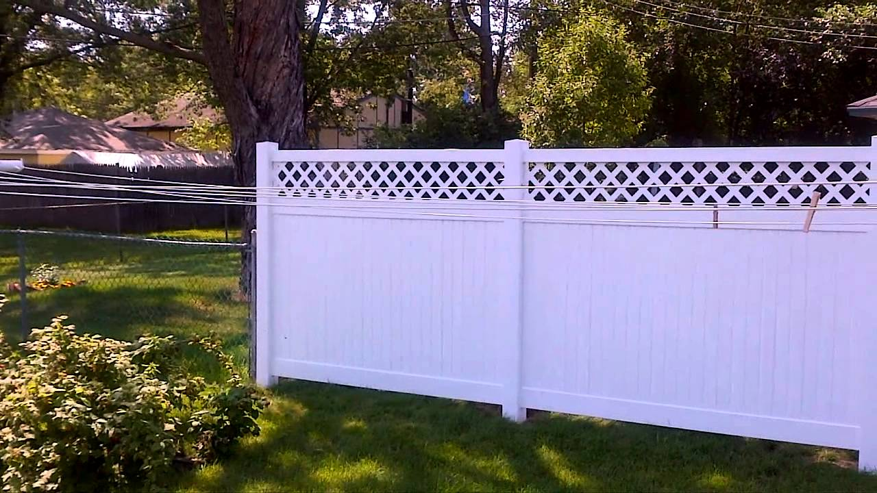 White Vinyl Lattice Privacy Fence Bloomington Mn Vinyl