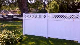 White Vinyl Lattice Privacy Fence Bloomington, Mn | Vinyl Lattice Fencing Bloomington, Mn |