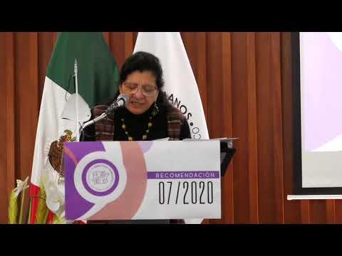 Discurso de Nashieli Ramírez, Presidenta de CDHCM, en Presentación de la Recomendación 07/2020