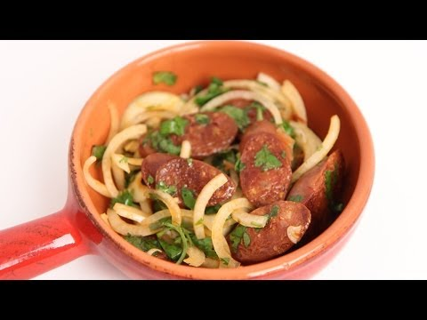 Grilled Chorizo with Onion & Lime Recipe - Laura Vitale - Laura in the Kitchen Episode 699