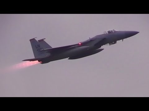 USAF F-15 Eagles In Lithuania • NATO Baltic Air Policing