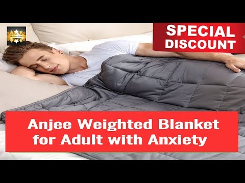 [DISCOUNT]  Anjee Weighted Blanket for Adult with Anxiety by Therapy, 20 lbs Autism