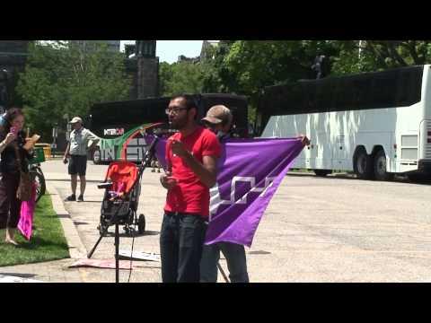 Enbridge Pipeline Hijacker Speaks At Toronto Idle No More Rally...