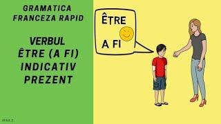 Conjugarea verbului a fi in franceza - ÊTRE - Gramatica franceza (2018)
