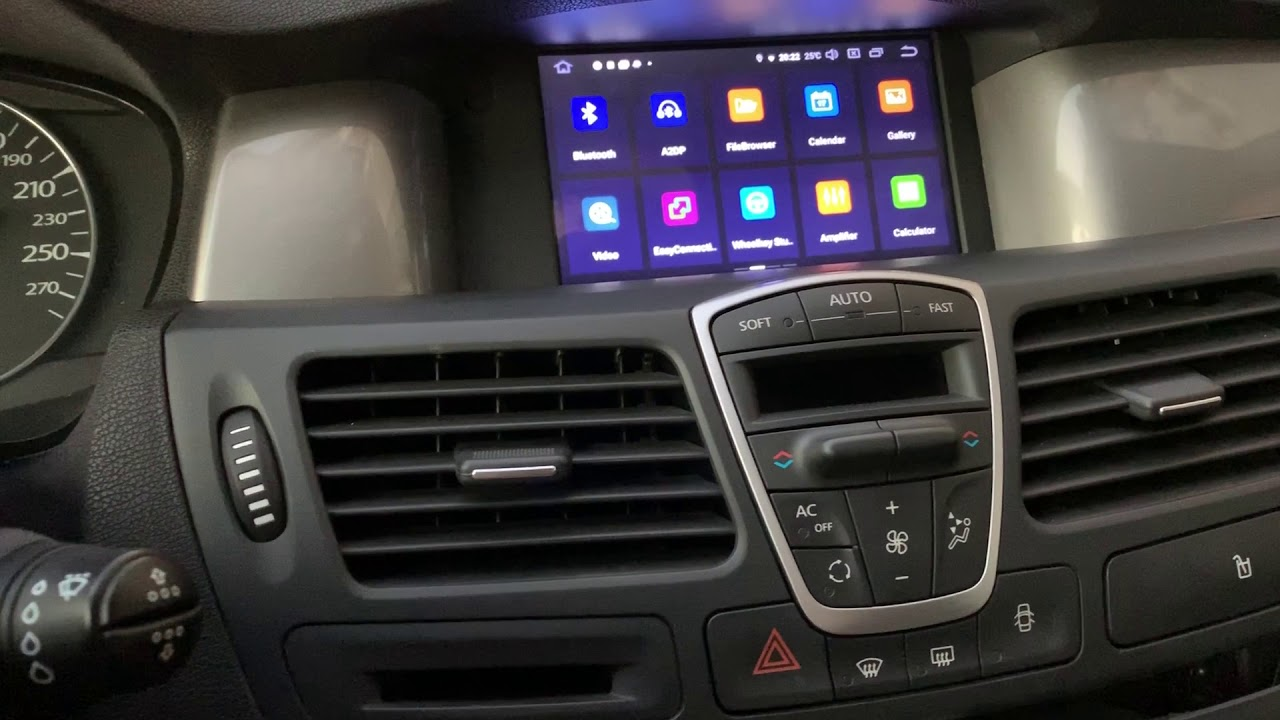 Px5 Android Unit On Renault Laguna 3 With Steering Wheel