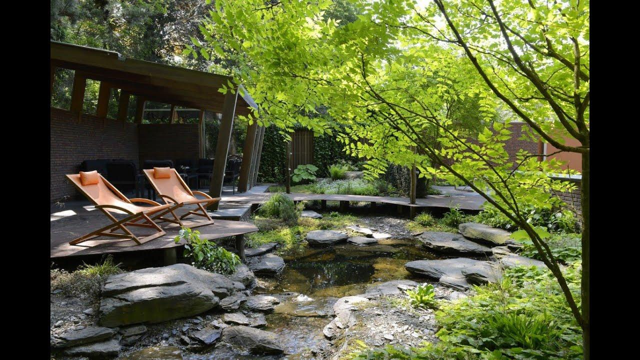 Luxe bostuin met zwembad en waterloop van mierlo tuinen youtube